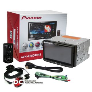 Pioneer AVH X5500BHS Car 2 Double DIN Touchscreen DVD Receiver Bluetooth Pandora