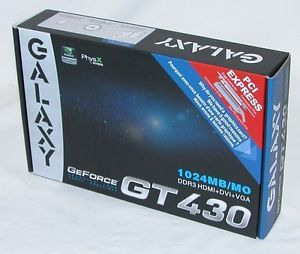 Galaxy GeForce GT 430 PCI Express DVI HDMI VGA Graphics Video Card