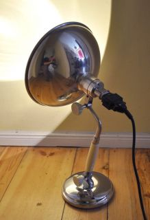 Kurt Rosenthal Desk Table Lamp Bauhaus Art Deco 30s Steampunk Industrial Design