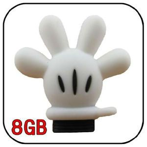 8GB USB Disney Mickey Glove Hand Flash Drive Memory Stick Keychain Pen LLU73D