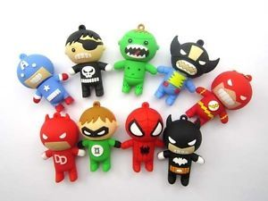 8GB 16GB 32GB Super Hero Shape USB2 0 Flash Memory Stick Pen Drive Thumb U Disk