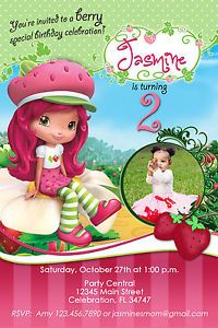 STRAWBERRY SHORTCAKE #1 CUSTOM PRINTABLE BIRTHDAY PARTY INVITATION