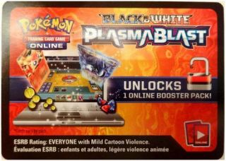 1x Plasma Blast Booster Code Pokemon Trading Card Game Online Ptcgo Pack
