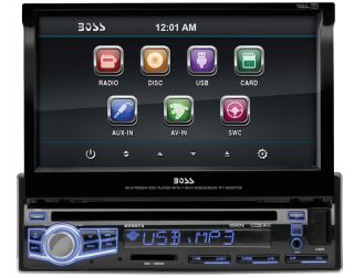 "Boss BV9973 Car DVD CD Player 7"" Touchscreen Monitor USB iPod in Color Changing"
