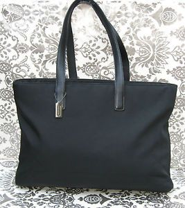 Coach Large Black Leather Tote Bag