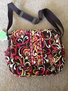 Vera Bradley Retired Messenger Bag Laptop Case Briefcase Puccini