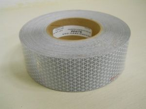 150' Roll White Dot Reflective Safety Marking Tape Truck Semi Trailer