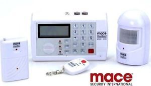 Mace Wireless Alarm Home Security System Auto Phone Dialer w Window Door Sensor