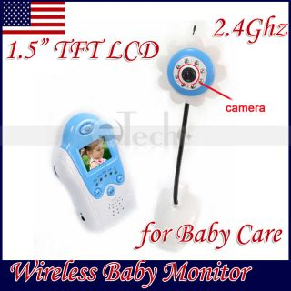 Wireless Video Baby Security Monitor Camera Blue New
