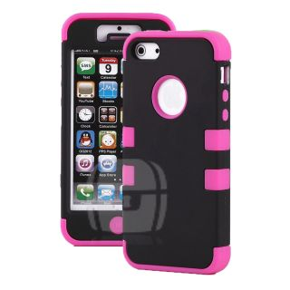 Rugged Hybrid Shock Proof Hard Cover Case for iPhone 5 5g 9 Colors to Choose