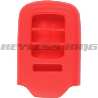 New Red 2013 Honda Accord Keyless Remote Key Fob Case Skin Jacket Cover Gel