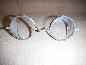 Vintage Circa 1920s Kings I Safe Safety Googles Steampunk Glasses Motorcycle Car