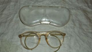 Vintage Retro 60's Safety Welding Goggles Glasses Columbia Case Steampunk