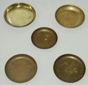 5X Brass Vintage Antique Weighing Scales Weight Pan Bowl Dish for Balance Candy