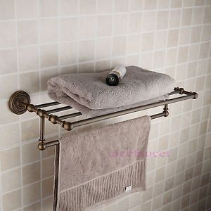 Classic Antique Brass Wall Mount Towel Cloth Rack Bar Shelf RZ 509