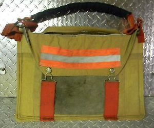 "Firefighter EMT 17"" Laptop Bag Made from Used Bunker Turnout Gear"