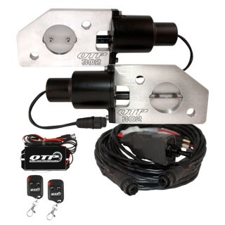 QTP QTEC302K Mustang Boss 302 Electric Exhaust Cutout with Wireless Remotes