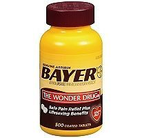 Genuine Bayer Aspirin 325 MG 500 Tablets Pain Reliever Fever Reducer