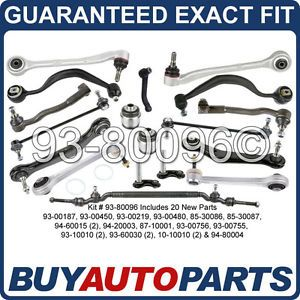Brand New 20 Piece Front Rear Suspension Repair Control Arm Kit BMW E38