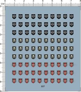 Decals WWII German Helmet for Different Scales Model Kits 227