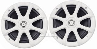 "Kicker KM6LW Marine Boat Car Light Up 6"" KM Speakers Speaker Pair White 11KM6LW"