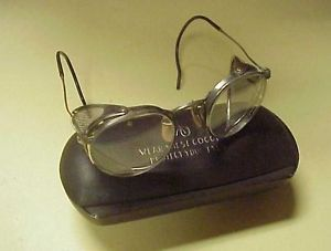 Vintage AO American Optical Mesh Sides Steampunk Safety Goggles Glasses w Case