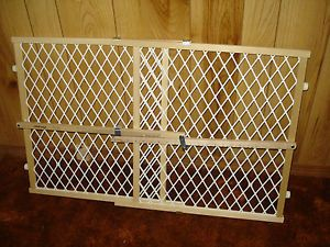 The First Years Wood Baby Security Safety Secure Pressure Gate Model 7186