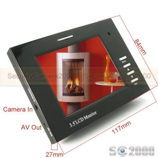 "Multi Function 3 5"" High Resolution TFT LCD Monitor for CCTV Security Camera"