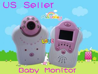 Wireless Video Baby Security Monitor Camera for Baby Care Pink New