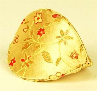 Silk Fortune Cookie Coin Purse Gold Case Squeeze Pouch Chinese Accessory Gift 3""