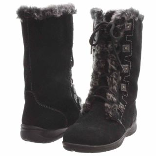 White Mountain Toba Faux Fur Boot Black Size 8 5