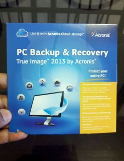 Brand New Acronis True Image 2013 PC Backup Recovery Software Factory SEALED