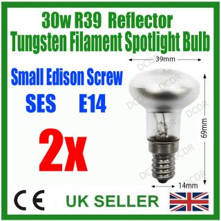 2X 30W R39 Reflector Spot Light Lava Lamp Bulbs Ses E14
