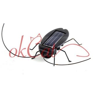 Solar Power Energy Black Cockroach Bug Toy Children