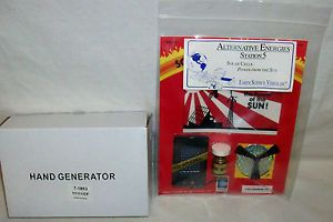 "New Solar Cells Energy Project DC Hand Crank Generator ""American Educational"""