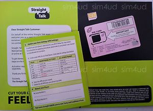 Straight Talk Micro Sim Card T Mobile at T GSM Unlocked Phones iPhone 4 4S