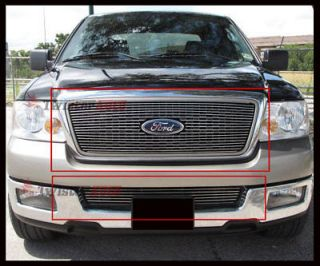Billet Grille Insert 04 05 Ford F 150 Front Grill Aluminum Logo Show Overlay 2P