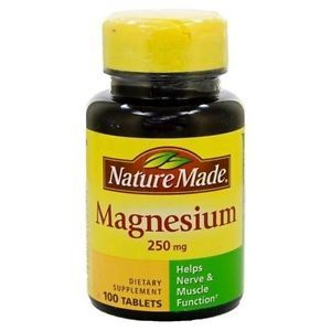 Nature Made Magnesium 250mg 100 Tablets Brand New Factory SEALED
