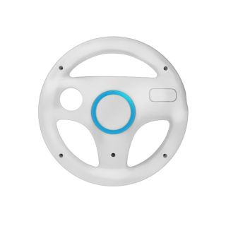New White Remote Nunchuck Mario Steering Wheel Controller for Nintendo Wii