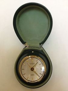 Looping Alarm Clock 15 Jewels 8 Days Travel Case Swiss Vtg