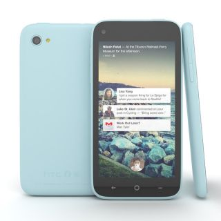 Unlocked at T HTC First Blue Touchscreen GSM WiFi Camera Smart Cell Phone
