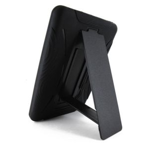 Kindle Fire Heavy Duty Hybrid Black Hard Soft Case Cover Kick Stand New