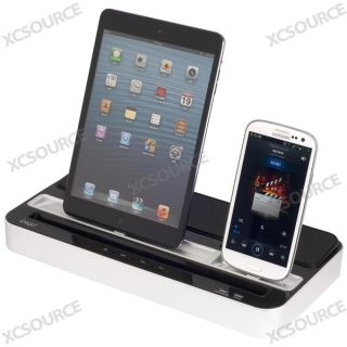 Black Dock Stand Charger Speaker for iPad iPhone iPad Mini Samsung NOTE2 S3 IP69
