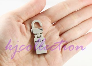 PNY Mini Hook 32GB 32G USB Flash Pen Drive Micro Attache Memory Lock Clip Metal