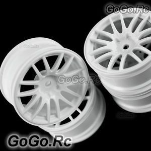 4 Pcs 1 10 White Car Wheel Rims 14 Spoke 9063