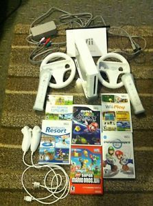 Wii System w Bundle Games Controllers Accessories