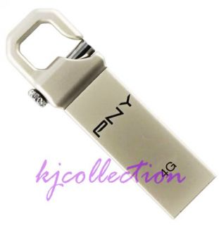 PNY 4G 4GB USB Flash Drive Keychain Lock Attache Hook 751492357232