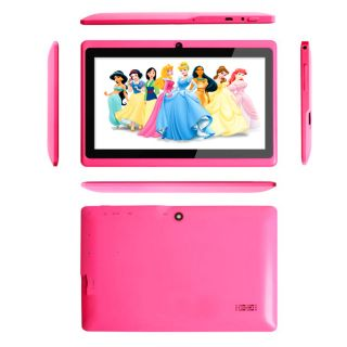 "Pink 7"" Android Tablet PC ICS A13 Allwinner Capacitive Keyboard Case Bundle"