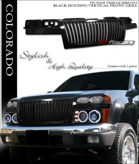 Blk Vertical Style Front Hood Bumper Grill Grille ABS 2004 2007 Colorado Canyon