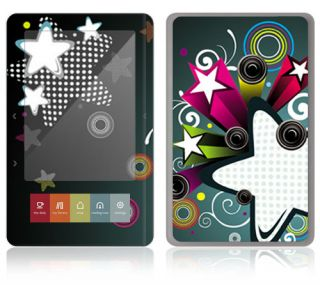 ST16 Barnes Noble Nook Color Touch Decal Skin Sticker Cover Retro Stars